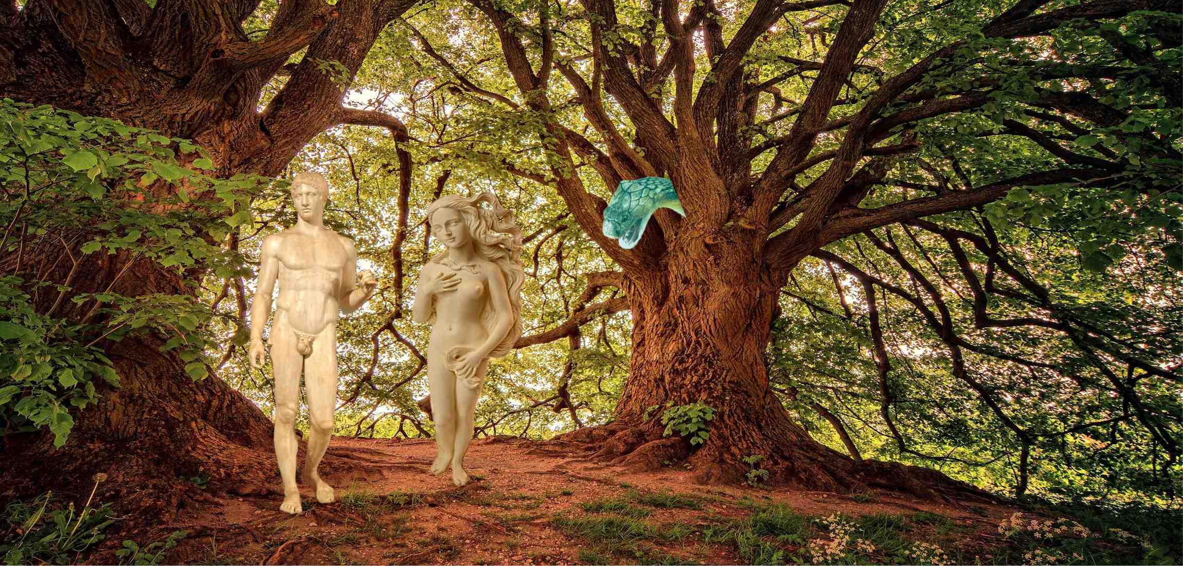 Adam en Eva in paradijs